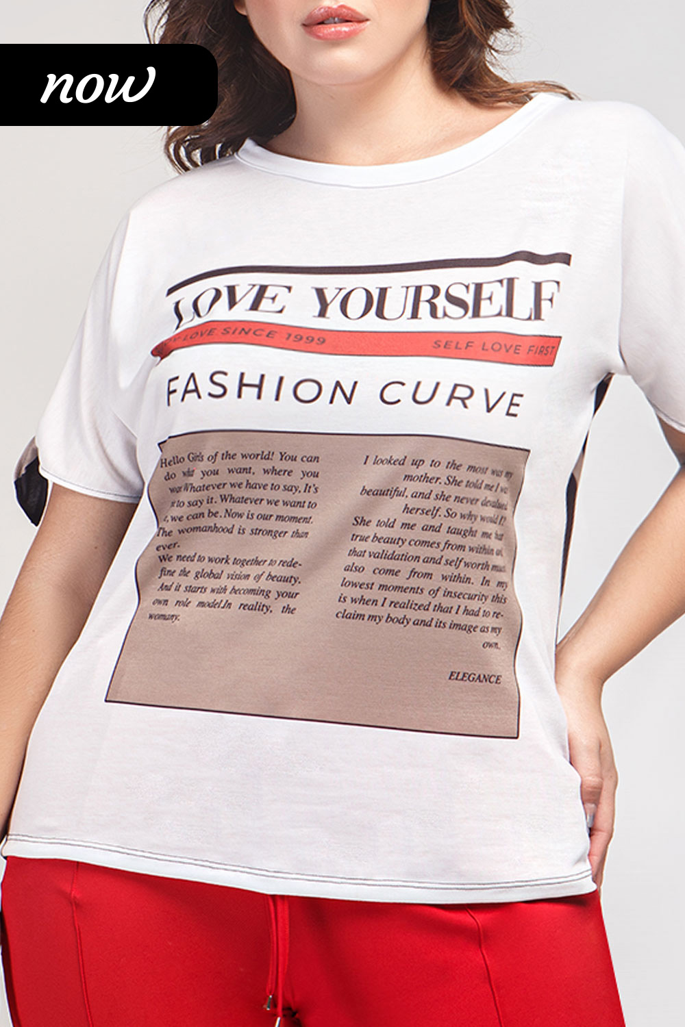 TSHIRT SUBLIMADA LOVE YOURSELF COM ABERTURA NA MANGA