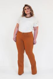 CALÇA JEANS FLARE COLLOR FIVE POCKETS